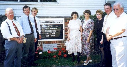 Various Axtells at the Fairfield Church Bicentennial 1999